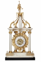 Imposing Monumental Louis XVI Temple Mantel Clock, circa 1780