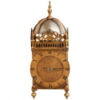 English 17th century lantern clock, circa 1640