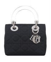 Christian Dior Mini Satin 'Lady Dior' Bag