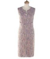 Chanel Pink Tweed Zip-Up Shift Dress 03P - Chanel