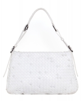 Bottega Veneta White Naruto Knot Hobo Bag