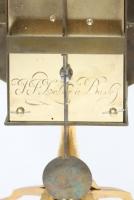 A Swiss gilt brass night timepiece, J.J. Zeller Basel, circa 1740.