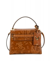 Valentino Santeria Embossed My Rockstud Top Handle Bag