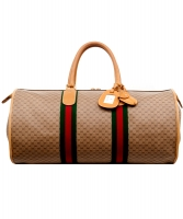 Gucci Web GG Monogram Canvas Duffle Bag