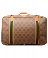 Gucci Web GG Monogram Canvas Suitcase