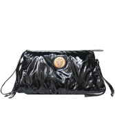 Gucci Black Patent Leather 'Hysteria' Clutch - Gucci