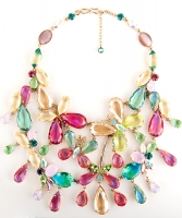 Philippe Ferrandis Pastel Coloured Crystal Necklace