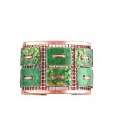 Matisse Renoir Green Copper Enamel Cuff Bracelet