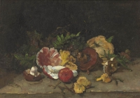 Still life with mushrooms