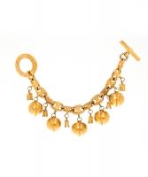 Céline Arc De Triomphe And Globe Charm Bracelet