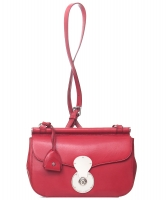 Ralph Lauren Red Leather Carlyle Crossbody Bag - Ralph Lauren