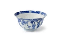 A Kangxi blue and white 'klapmuts' bowl