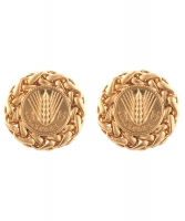Chanel Wheat Disc Earrings