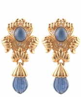 Nina Ricci 'Faux Sapphire' Drop Earrings