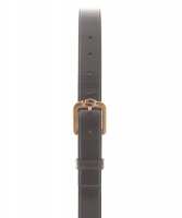Yves Saint Laurent Monogram Black Patent Leather Buckle Belt - Yves Saint Laurent