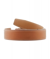 Hermès 32mm Reversible Cognac / Light Brown Leather Belt Strap - Hermès