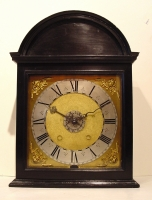 A fine French Louis XIV ebonized 'Religieuse' wall clock, Jean de St Blimond, circa 1670