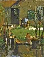 Washing day - Leendert (Leo) Gestel