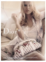 Christian Dior Diorissimo Embroidered Flowers Frame Satchel Bag