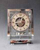 A fine Art Deco Atmos clock, chrome  No 6981, by Jean Leon Reutter, circa 1930.