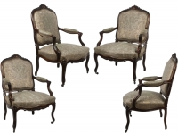 A Set of Four Fauteuils