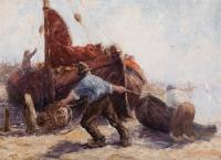 """""""Fishermen pulling a boat ashore""""  - Leonard Gustaaf  Imandt"""