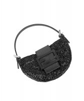 Fendi Black Beaded Mini Croissant Bag