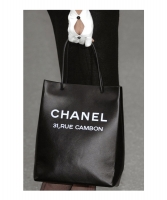 Chanel Shopping Tote Medium in Zwart Kalfsleer - Runway