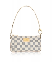 Louis Vuitton Azur Damier Canvas 'Pochette Milla' MM Bag