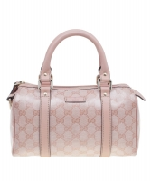 Gucci Kristal Roze Kleine 'Joy Boston' Tas in Guccissima Leder