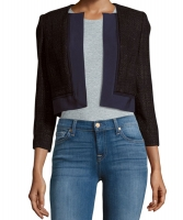 Carolina Herrera Open Front Cropped Jacket