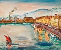 Le port Toulon - Achille Emile Othon Friesz