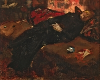 Girl resting on a sofa - George Hendrik Breitner