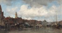 Stadsgezicht van Amsterdam met Koepelkerk - Jacob Maris