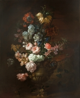 A STILL LIFE OF FLOWERS - JEAN-BAPTISTE BELIN DE FONTENAY THE ELDER