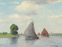 Sailboats - Gerbrand Frederik van Schagen