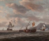 Vissersschepen op zee