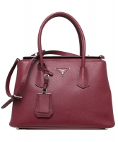 Prada Red Saffiano Cuir Twin Bag