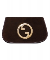 Vintage Gucci Brown Suede Blondie Clutch