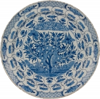 A Charger in Blue and White Dutch Delftware