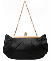 Christian Louboutin Black Leather Loubis Angel Clutch - Christian Louboutin
