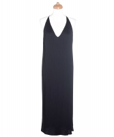 The Row Black Pleated Dress