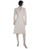 Alaïa White Wool Princess Coat
