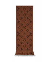 Louis Vuitton Brown Logomania Scarf