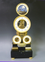 An important and fine multi dial and striking skeleton clock in the style of Hubert Sarton, circa 1800-1820.