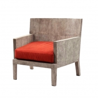 F05 R&Y Augousti Chair Art Deco/Jean Michel Frank style shagreen panels