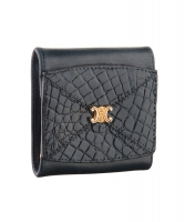 Céline Black Crocodile Leather Coin Purse