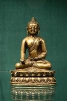 Bronzen sculptuur van Aksobya Boeddhistische Antieke kunst