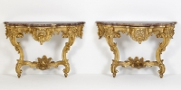Pair of German Giltwood Console Tables