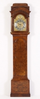English George II Burr Elm Longcase Clock
